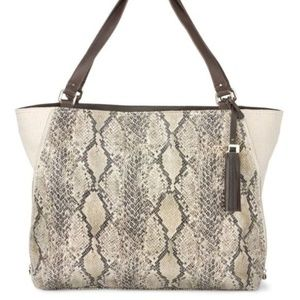 Stella & Dot Snake Print The Switch Purse Bag